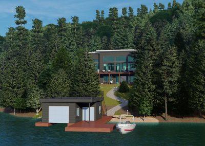 Custom Cottage with Boathouse
